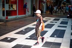 White Cap (Steve Lundqvist) Tags: life road street city boy urban hat fashion town kid toddler open baseball sweden stockholm path tshirt sidewalk cap sverige footpath sporty stoccolma cappello menswear svezia