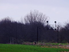 Trees have been cleared from  old E-L signal ridge near Laketon Indiana (Matt Ditton) Tags: abandoned indiana erie lackawanna
