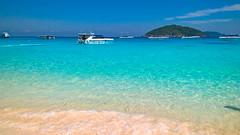 Similan island (adrianacurri) Tags: beach sunrise palms thailand resort phuket similanislands