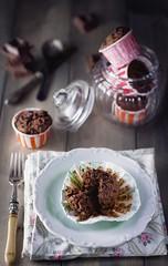Muffin al cioccolato di California Bakery (lanaebiscotti) Tags: california stilllife food cake moody sweet chocolate delicious foodporn bakery muffin cioccolato