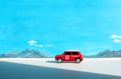 Canned Heat Radio Controlled Mini Cooper By Tyco R/C Mattel Incorporated 1998 : Diorama Boneville Salt Flats - 14 Of 21 (Kelvin64) Tags: by radio salt mini flats cooper heat canned 1998 rc mattel diorama incorporated controlled tyco boneville