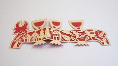 DSCF5042 (Elsita (Elsa Mora)) Tags: christmas paperart card redandwhite papercraft holidaycard papercutout elsita papercutting elsamora