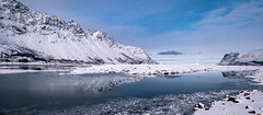 Reflection (Reidar Trekkvold) Tags: winter sea snow seascape ice nature norway landscape is seaside vinter natur fujifilm lofoten vann nordnorge sn sj nordland gimsy xt10 gimsoey xf1024ois