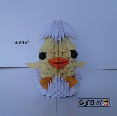 Little Chick Origami 3d (Samuel Sfa87) Tags: baby chicken paper easter 3d origami arte little handmade egg chick modular sfa eggs papel pintinho artisan pasqua uovo pulcino arteempapel blockfolding origami3d sfaorigami sfa87 arteconlacarta