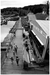 gibsons-boardwalk (tesseract33) Tags: world ocean travel light sea people blackandwhite monochrome nikon waterfront gibsons boardwalk tesseract33 squamishphotographers peterlangphotographynet