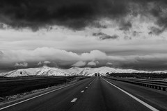 Somewhere in Nevada, #300 (andertho) Tags: road travel clouds truck landscape nikon highway nevada trucks i80 d810
