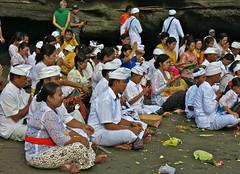Festival on the beach (rainy city) Tags: bali festival indonesia gathering tanahlot