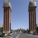 Las Torres Venecianas, en la Avenida de la Reina María Cristina, Barcelona