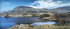 Cregennan Lakes at Cadair Idris (seewhy59) Tags: mountain lake mountains reflection water wales clouds reflections landscape nikon outdoor peaceful remote tranquil powys 1635mm d810 cregennen