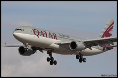 Qatar Airwats Airbus A330-202 (A7-ACI) (Xavier Bayod Farr) Tags: barcelona geotagged aircraft aviation bcn landing airbus avi avin aeroport a330 spotting qatar prat elprat qatarairways a332 lebl aeroportdebarcelona a330202 a7aci canoneos60d sigma120400 airwats