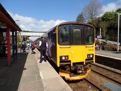 150131 Liskeard (Marky7890) Tags: station train cornwall railway gwr sprinter liskeard fgw class150 1c04 150131