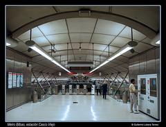 Metro Bilbao, estacin Casco Viejo (wuploteg1) Tags: espaa station bay spain metro country norman bilbao espana foster estacion salida exit viejo bizkaia basque casco vasco euskalherria euskadi estacin bilbo pais espania cantabrico biscay cantbrico pas