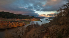 Another day begins (cheese and pickle) Tags: uk blue trees winter light sky orange sun lake snow tree green nature water beautiful beauty sunrise landscape outdoors gold scotland leaf nikon scenery natural unitedkingdom britain outdoor scenic depthoffield loch isolate scottishhighlands