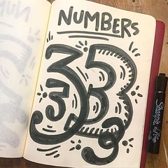 Numbers are all over the place, so why not make 'em fun! #visualthinking #creativity https://t.co/ItyDBEBRRx (One Squiggly Line) Tags: illustration creativity design drawing handdrawn visualthinking