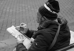 The Endless Enigma (Straatmoment) Tags: people holland netherlands amsterdam nederland streetphotography nieuwmarkt mensen straatfotografie straatmoment hansstellingwerf