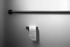 Paper and Steel (Geoffrey Coelho Photography) Tags: white abstract architecture paper bathroom interior architectural roll access toiletpaper minimalism handicap minimalist handicapped toiley greymetalsteel