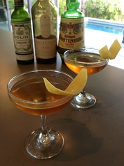 Lion & Rose (Samuel Tripet via Gaz Regan) with Lagavulin 16 year old scotch whisky, amaro Montenegro, Dolin dry vermouth #cocktail #cocktails #craftcocktails #scotch #whisky #101bestnewcocktails (*FrogPrincesse*) Tags: up cocktail whisky scotch cocktails montenegro lagavulin stirred scotchwhisky dryvermouth craftcocktails 101bestnewcocktails samueltripet
