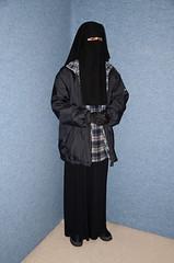 Jacket (Buses,Trains and Fetish) Tags: winter hot girl hijab torture niqab maid anorak slave burka chador