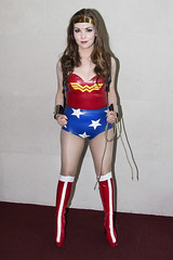 wonder woman (BarryKelly) Tags: red dublin woman girl pose wonder boot dc costume comic silk tights rope latex satin con 2015