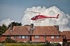 Helicopter Coming in to Land (markkilner) Tags: england house canon eos coast kent apo helicopter telescope 7d mansion dslr manualfocus broadstairs northforeland jossbay primefocus televue kilner tv60 televue60