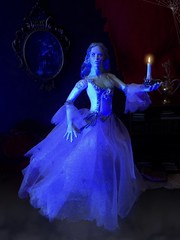 A Flickering Light in the Darkness (MaxxieJames) Tags: woman white lady toy action spirit ooak ghost haunted figure customized bianca custom phantom ghostly