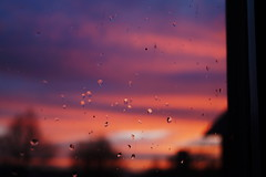 (ouyeeah) Tags: sunset sky window raindrops eveningsky afterglow