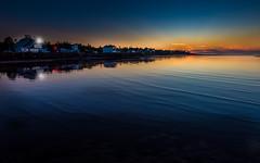 Evening peace (Alec_Hickman) Tags: canada lights evening nikon waves colours tide calm 1635 d810