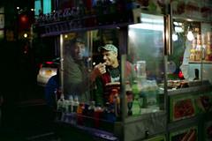(Rafakoy) Tags: street city nyc light people urban food ny newyork color film colors smile car night 35mm 50mm lights kodak manhattan candid smiles scan negative timessquare epson v600 135 nikkor perfection nikonn90s ektar c41 kodakektar125 afnikkor50mmf14d af50mmf14d epsonv600