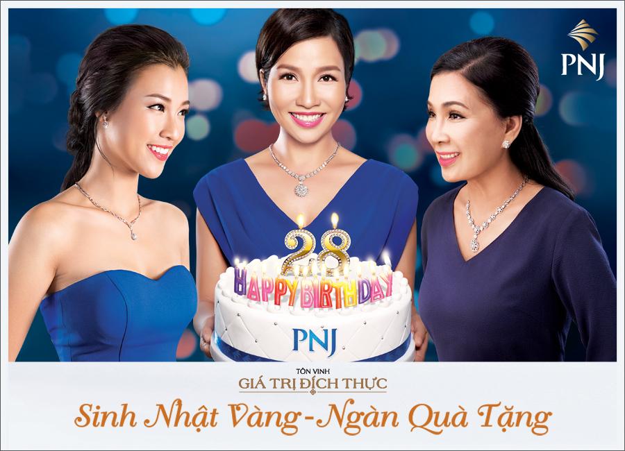 Sinh nhật vàng – ngàn quà tặng từ trang sức PNJ