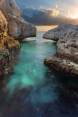 Curacao Lime (AaronDDS) Tags: ocean travel water landscape curacao limestone canon5d caribbean exposureblend canon1740mml