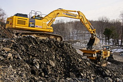 Trickle Down Effect (thetrick113) Tags: yellow machine equipment heavyequipment loader crush hdr komatsu processor excavator frontendloader shale rockcrusher wheelloader jawcrusher wa380 sonyslta65v pc360 komatsuwa380loader pc360jg 380jg komatsu380jgrockcrusher komatsupc360jgexcavator