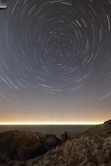 Star and ship trails at Rocky coast (traceysnelus) Tags: astronomy startrails polaris northstar stennaline