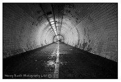 The Tunnel (Henry Booth Photography) Tags: london monochrome foot long exposure tunnel depth