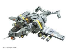 FRONT VIEW: WZ-13 Wespe Zorn Hornet (Benjamin Cheh) Tags: airplane design lego gunship moc