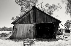 Propped up (HOLLY HOP) Tags: windows house abandoned home wall architecture farmhouse rural wooden decay empty rusty australia victoria walls derelict ruraldecay rustyandcrusty woodenshed farmshed hww bushhut newwallwednesday rathscar