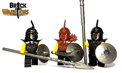 April 2016 - Thralls! (BrickWarriors - Ryan) Tags: castle soldier army lego medieval fantasy armor shield blade arabian pike custom weapons dervish spear helmets quiver minifigure thrall brickwarriors
