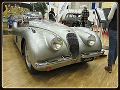 Jaguar XK 120 (v8dub) Tags: auto old classic 120 car schweiz switzerland automobile suisse automotive voiture oldtimer british jaguar fribourg oldcar freiburg collector xk wagen pkw klassik worldcars
