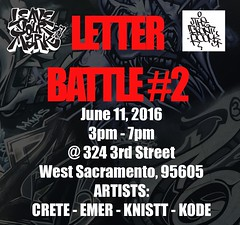 Coming soon.  June 11th 2016 (leaveyourmarksac) Tags: leave graffiti mark room sac battle front your crete end sacramento graff emer dtc kode htk knistt gtl