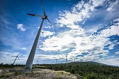 Huge Fan (DeSjnIs) Tags: leica europe croatia bluesky 12mm f56 voigtlnder windpower windturbines ultrawideangle ibenik m240 leicam