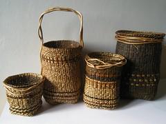 Dorthe Steffensen. Pilebark og granrdder (dasteffensen) Tags: roots willow bark spruce containers basketry