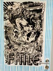 Faile / Molenbeek  - 22 apr 2016 (Ferdinand 'Ferre' Feys) Tags: brussels streetart graffiti faile belgium belgique belgi bruxelles urbanart graff brussel graffitiart bxl artdelarue urbanarte