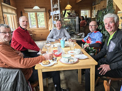 Lunch with the guys at the Metropolitan Moose. (Jim Restall) Tags: ontario canada cycling retirement kakabekafalls volunteerism