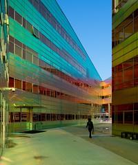 _DSC2226 (durr-architect) Tags: light sun colour reflection netherlands glass architecture modern facade offices almere dfense berkel unstudio
