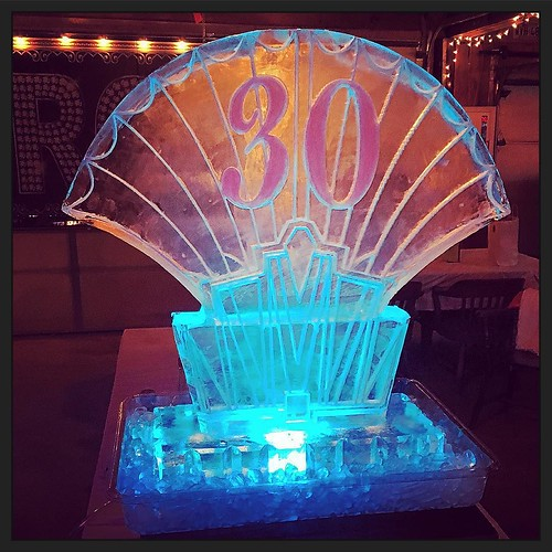 #Gatsby #iceluge for a 30th #birthday #party #fullspectrumice #thinkoutsidetheblocks #brrriliant - Full Spectrum Ice Sculpture