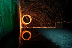 The Mirror (nwtravelpictures) Tags: mirror sony tripod iso 50 duisburg ruhrgebiet spiegelung steelwool ruhrpott iso50 landschaftsparkduisburgnord ruhrvalley steelwoolspinning a7r2 sonya7r2