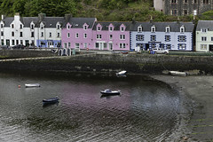 Portree Harbour (Christian Wilt) Tags: ocean uk houses sea reflections boats scotland harbour