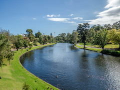River Torrens (Kernich Amateur Photography) Tags: trees sky water grass river south australia adelaide cbd waterway torrens waterscape adelaideuniversity