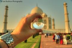 Taj Mahal (Rushy9495) Tags: india ball crystal taj tajmahal agra crystalball