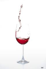 Weinglass #1 (pixel-sallo) Tags: red rot glass wine splash liquid glas wein flssig