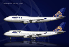 United Airlines 747-400 Illustration (CATHAY DRAGON) Tags: illustration airplane drawing aircraft aviation united jet boeing sideview airliner ua unitedairlines 747400 widebody airtransportation commercialairliner logobackground commercialaircraft n118ua 747422 norebbocom